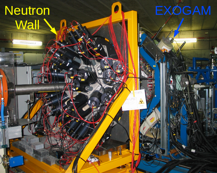 Neutron Wall  and EXOGAM